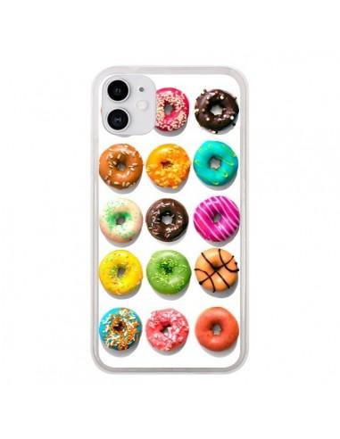 Coque iPhone 11 Donuts Multicolore Chocolat Vanille - Laetitia