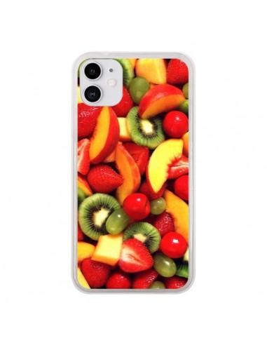 Coque iPhone 11 Fruit Kiwi Fraise - Laetitia