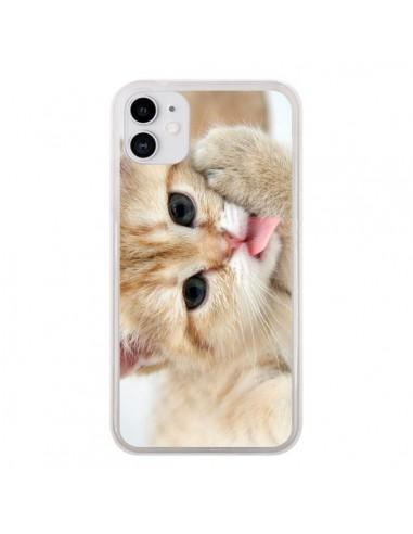 Coque iPhone 11 Chat Cat Tongue - Laetitia