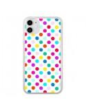 Coque iPhone 11 Pois Multicolores - Laetitia