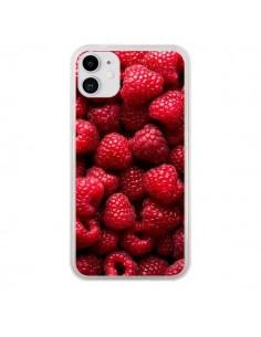 Coque iPhone 11 Framboise Raspberry Fruit - Laetitia