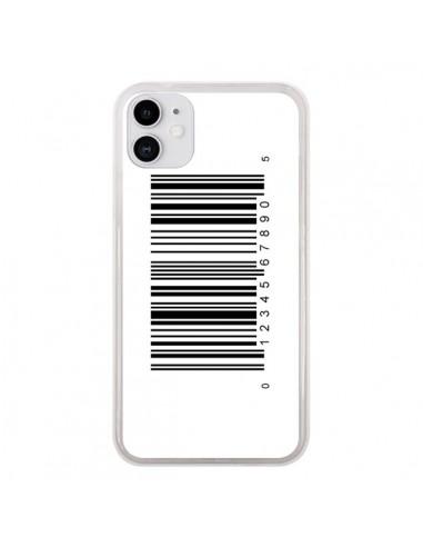 Coque iPhone 11 Code Barres Noir - Laetitia