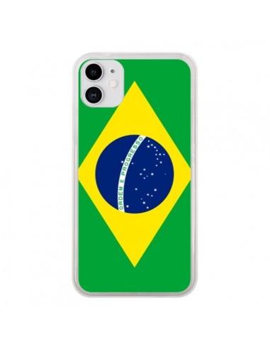 Coque iPhone 11 Drapeau Brésil Brésilien - Laetitia