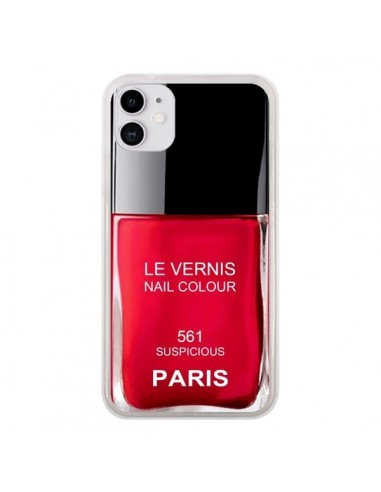 Coque iPhone 11 Vernis Paris Suspicious Rouge - Laetitia