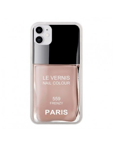 Coque iPhone 11 Vernis Paris Frenzy Beige - Laetitia