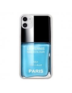 Coque iPhone 11 Vernis Paris Coco Blue Bleu - Laetitia