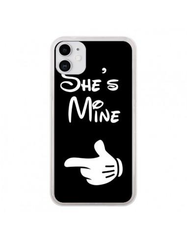 Coque iPhone 11 She's Mine Elle est à Moi Amour Amoureux - Laetitia