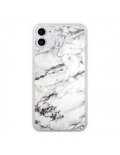 Coque iPhone 11 Marbre Marble Blanc White - Laetitia