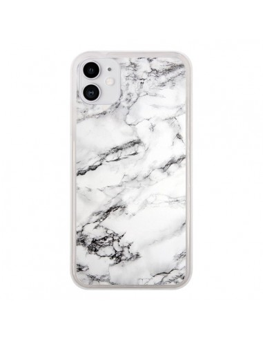 Coque iPhone 11 Marbre Marble Blanc White - Laetitia