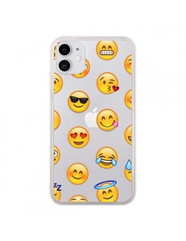 Coque iPhone 11 Smiley Emoticone Emoji Transparente - Laetitia