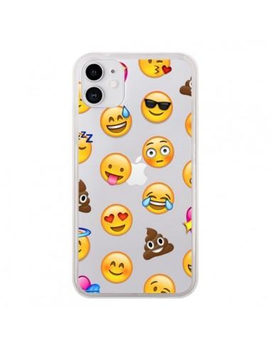 Coque iPhone 11 Emoticone Emoji Transparente - Laetitia