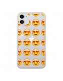 Coque iPhone 11 Love Amoureux Smiley Emoticone Emoji Transparente - Laetitia