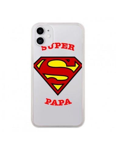 Coque iPhone 11 Super Papa Transparente - Laetitia