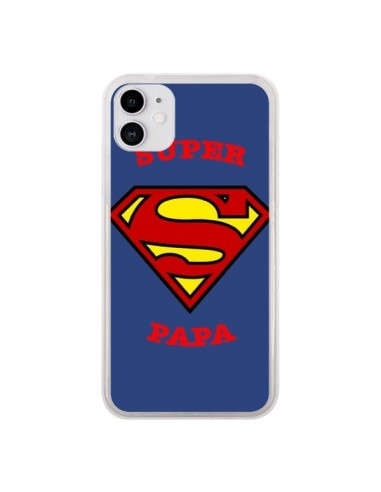 Coque iPhone 11 Super Papa Superman - Laetitia
