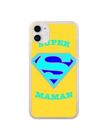 Coque iPhone 11 Super Maman Superman - Laetitia