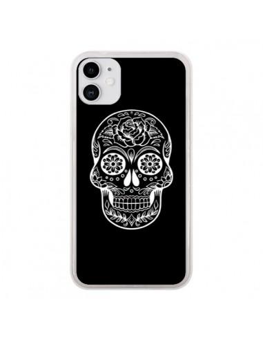 Coque iPhone 11 Tête de Mort Mexicaine Blanche - Laetitia