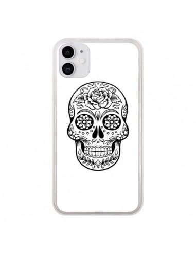 Coque iPhone 11 Tête de Mort Mexicaine Noir - Laetitia
