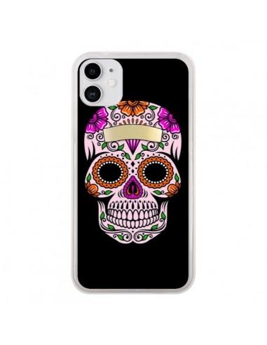 Coque iPhone 11 Tête de Mort Mexicaine Multicolore - Laetitia