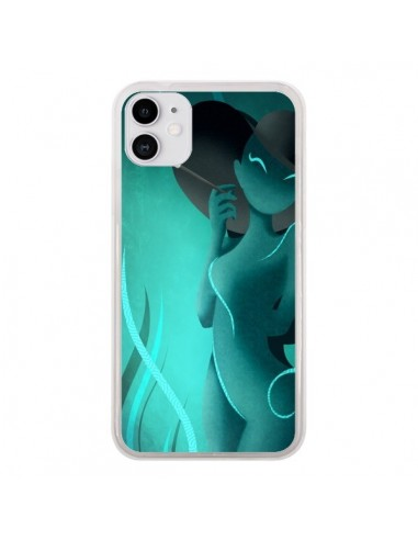 Coque iPhone 11 Femme Enora Blue Smoke - LouJah
