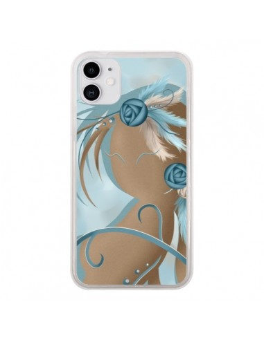 Coque iPhone 11 Femme Plume Zoey Woman Feather - LouJah