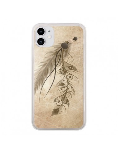 Coque iPhone 11 Bohemian Feather Plume Attrape Reves - LouJah