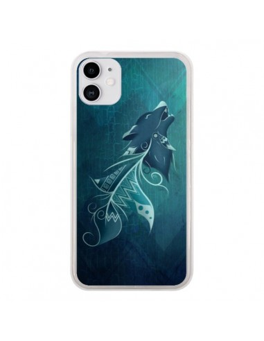 Coque iPhone 11 Wolfeather Plume Loup - LouJah