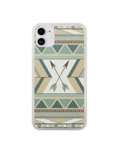 Coque iPhone 11 Aztec Pattern Arrows Fleche Azteque Tribal - LouJah