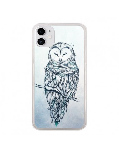 Coque iPhone 11 Snow Owl Chouette Hibou Neige - LouJah