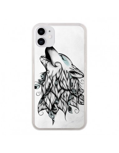 Coque iPhone 11 The Wolf Loup Noir - LouJah