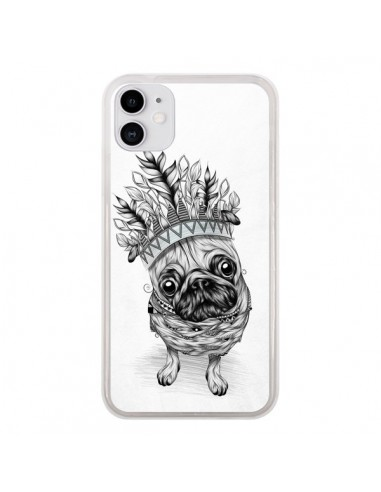 Coque iPhone 11 Indian Dog Chien Indien Chef Couronne - LouJah