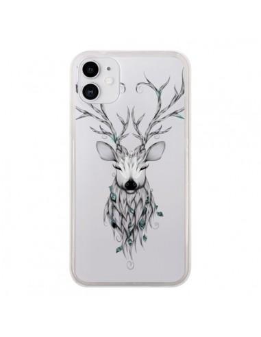Coque iPhone 11 Cerf Poétique Transparente - LouJah