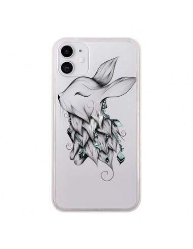 Coque iPhone 11 Lapin Transparente - LouJah