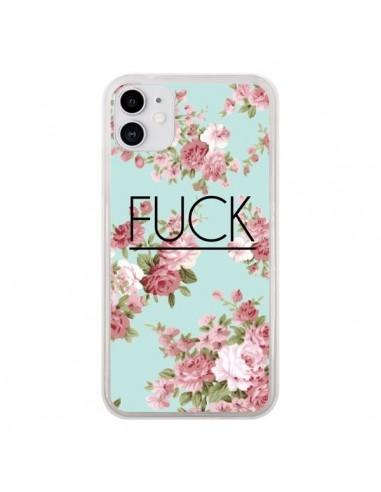 Coque iPhone 11 Fuck Fleurs - Maryline Cazenave