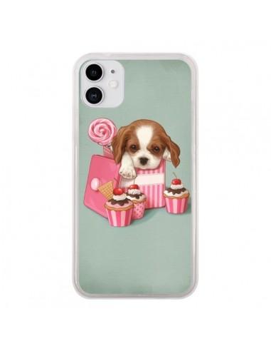 Coque iPhone 11 Chien Dog Cupcake Gateau Boite - Maryline Cazenave