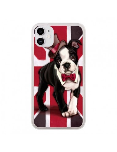 Coque iPhone 11 Chien Dog Anglais UK British Gentleman - Maryline Cazenave