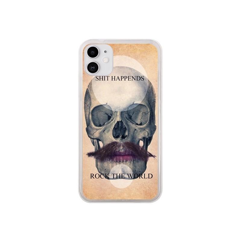 Coque iPhone 11 Rock Skull Tête de Mort - Maximilian San