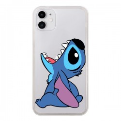 Coque iPhone 11 Stitch de Lilo et Stitch Transparente