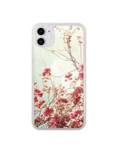 Coque iPhone 11 Fleur Vintage Rose - Nico