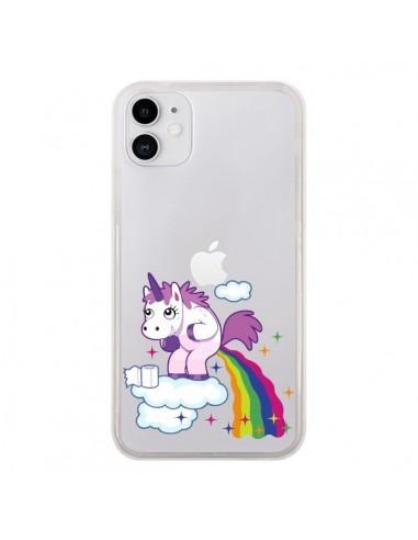 Coque Iphone 11 Licorne Caca Arc En Ciel Transparente Nico