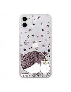 Coque iPhone 11 Petite Fille et Licorne I Believe Transparente - Nico