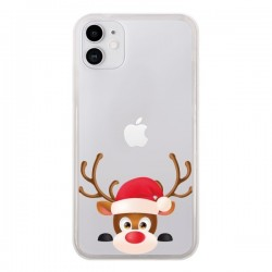 Coque iPhone 11 Renne de Noël transparente - Nico