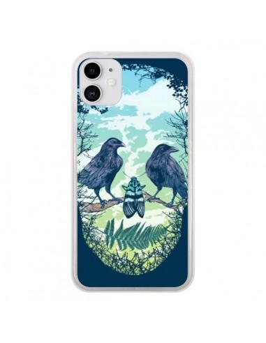 Coque iPhone 11 Tête de Mort Nature - Rachel Caldwell