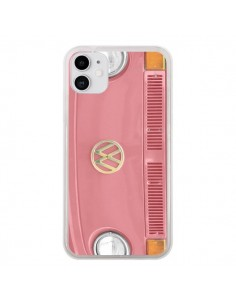 Coque iPhone 11 Groovy Van Hippie VW Rose - R Delean