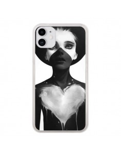 Coque iPhone 11 Fille Coeur Hold On - Ruben Ireland