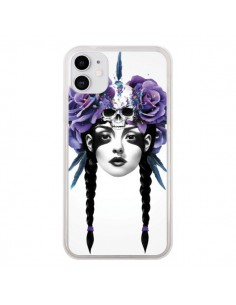 Coque iPhone 11 Fille Fleurs Warrior - Ruben Ireland