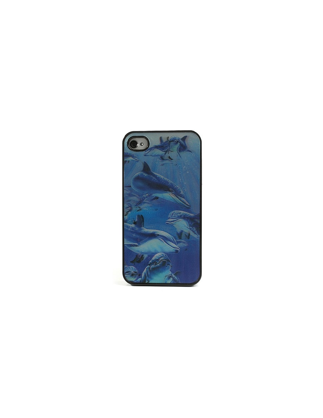 coque dauphins en 3d pour iphone 4 4s. Black Bedroom Furniture Sets. Home Design Ideas