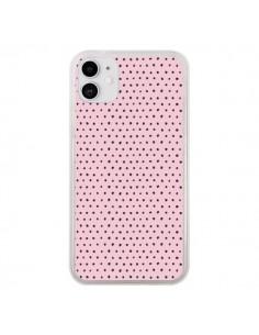 Coque iPhone 11 Artsy Dots Pink - Ninola Design