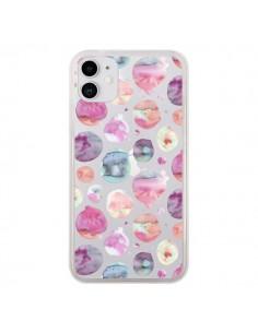 Coque iPhone 11 Big Watery Dots Pink - Ninola Design