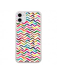 Coque iPhone 11 Chevron Stripes Multicolored - Ninola Design