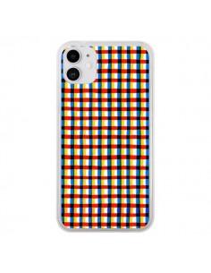 Coque iPhone 11 Crossed Eyes Lines Red - Ninola Design
